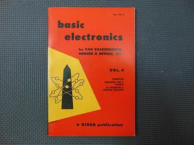 Basic Electronics Vol. 4 by Van Valkenburgh, Nooger & Neville, Inc. (Original)