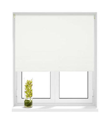 Made to measure Thermal WHITE Blackout Roller Blind Free Postage