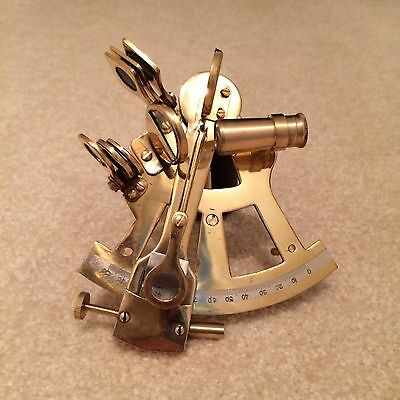 Sextant Brass Functioning Nautical Collectable