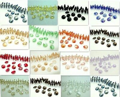 15PCS ELEMENTS Rivoli Crystal glass loose Beads 10mm Multicolor