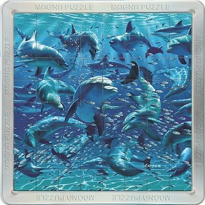 3D Magnetic Magna Jigsaw Puzzle: Fun With Dolphins. 64 Pieces. New & Sealed