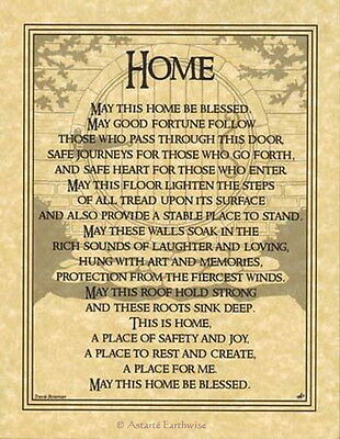 HOME BLESSING POSTER  A4 SIZE Wicca Pagan Witch Witchcraft Goth BOOK OF SHADOWS