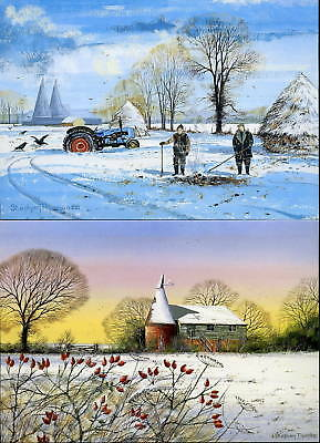 SUSSEX & KENT WINTER SCENES GREETINGS CARDS 7 Different