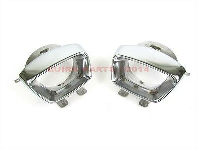 11-14 Dodge Charger CHROME STAINLESS STEEL EXHAUST TIPS SET OF 2 OEM NEW MOPAR