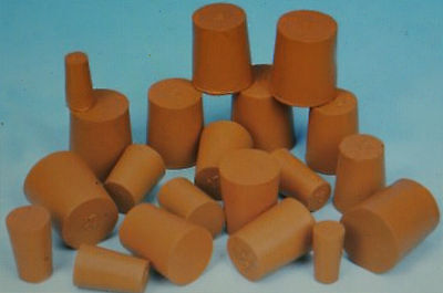 2,3 and 5 Packs of Red Solid Rubber Stopper Bungs Laboratory sizes 3mm to 33mm
