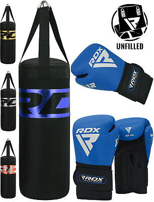 RDX Kids Punch Bag Junior Boxing Heavy UnFilled MMA Kickboxing Training Gloves