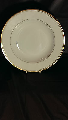 Fitz and Floyd Palais All White with Gold Trim Large Rimmed Soup Bowl(s)