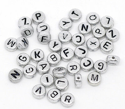 500 Mixed Alphabet /Letter Acrylic Spacer Beads