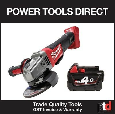New Milwaukee 18 V Fuel M18 Cag125 Xpd 125Mm Angle Grinder With 4Amp Battery