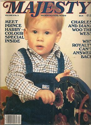 MAJESTY THE MONTHLY ROYAL REVIEW - JANUARY 1986, MEET PRINCE HARRY