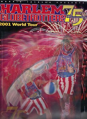 HARLEM GLOBETROTTERS 75th Anniversary 2001 World Tour With Players Autographs