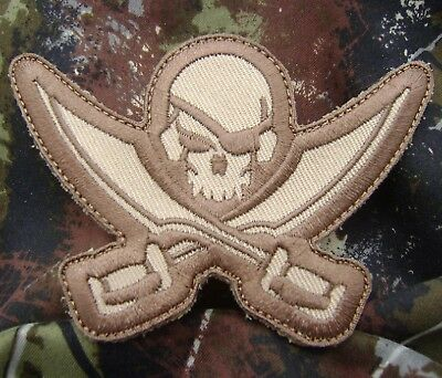 PIRATE SKULL DIECUT SEAL TACTICAL USA ARMY MORALE BADGE MULTICAM VELCRO PATCH