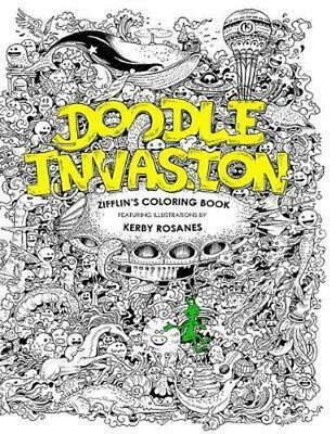 Doodle Invasion Zifflins Coloring Book By Zifflin English Paperback Fre