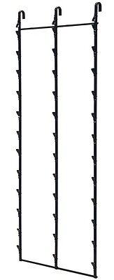 Retail Hanging Clipper Display Grid Panel Rack 36 Clips Lot of 4 Black NEW
