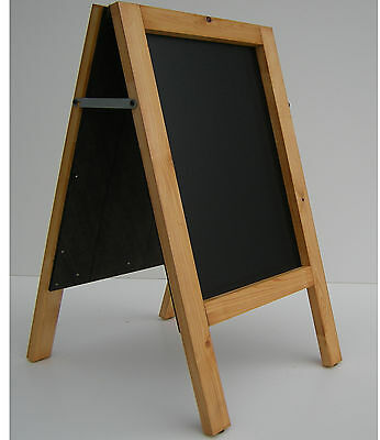 CHALKBOARD-PAVEMENT BOARD-SANDWICH-DISPLAY-BLACKBOARD - 80cm x 40cm 5KGS (G/OAK)