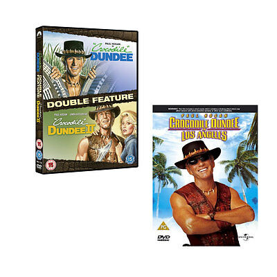 Crocodile Dundee 1, 2 & 3 In Los Angeles DVD Set Paul Hogan R2 New