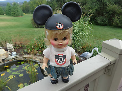 MICKEY MOUSE CLUB DOLL HORSMAN  w MOUSE EARS SHOES SOCKS HAIR IS STILL NETTED