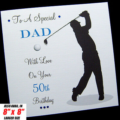 Personalised Golf Birthday Card Dad Brother Son Husband Uncle