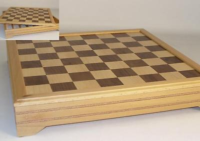 """18"""" Maple Beechwood Chess Board with Storage"""