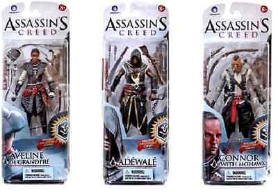 MCFARLANE ASSASSIN'S CREED SERIES 2 COMPLETE SET OF 3 FIGURES - IN HAND!