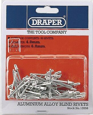 Draper 13556 50 x 4mm x 5.6mm Blind Rivets
