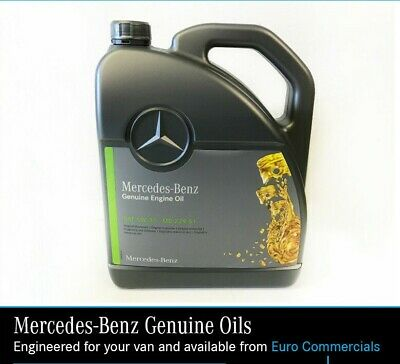 5L Genuine Mercedes Benz 5W30 Low Ash Engine Oil MB229.51 Fully Synthetic