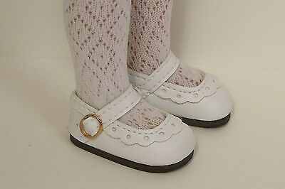 """WHITE Classic CF Doll Shoes For Dianna Effner 13"""" Vinyl Little Darling DEBs"""