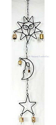 SUN MOON & STAR WINDCHIME Wicca Witch Pagan Goth Punk Astrology