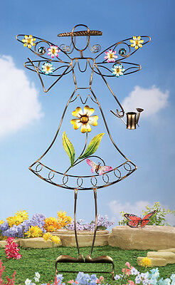 Collections Etc Flower Angel Decorative Garden Stake