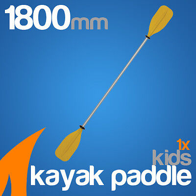 Premium 1.8m Yellow Alloy Kids Kayak Paddle(Split Shaft)