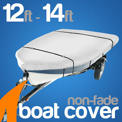 Heavy-Duty, Marine Grade 12ft-14ft Trailerable Boat Cover