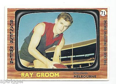 1967 Scanlens # 71 Ray GROOM Melbourne Near Mint.