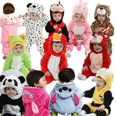 Baby Infant Toddler Soft Plush Animal Cartoon Coverall Cute Halloween Costume