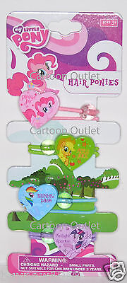 My Little Pony Hair Pony Tails 4Pcs Girls Gift Hair Ponies Stocking Stuffer Gift