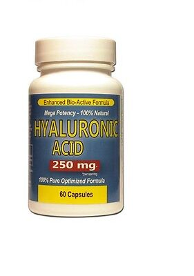 Hyaluronic Acid 250 mg Mega Strength 60 Capsules Pills Joints Antioxidant