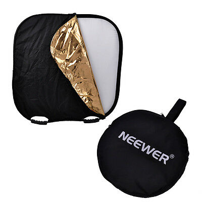 "Neewer Portable Square 32"" Photography Reflector 5-in-1 Circular Collapsible"