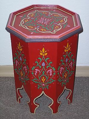Moroccan wood table end table handmade Middle Eastern Arabesque Furniture