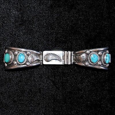 Old Pawn/Estate Navajo Sterling Silver & Turquoise Watch Tips