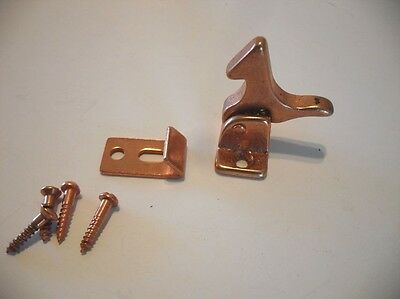 Vtg NOS Hoosier Cabinet Door Elbow Spring Catch Rooster Copper Plated Trailer