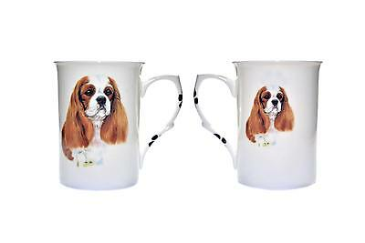 Set Of 2 Bone China Beakers/ Mugs Blenium Cavalier King Charles Gift Boxed
