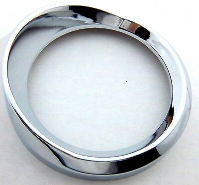 gauge cover pyrometer pyro 3-1/4 large thick visor chrome plastic for Kenworth