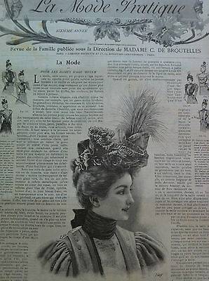LAST ONE ! ORIGINAL MODE PRATIQUE April 17, 1897 + French SEWING PATTERN