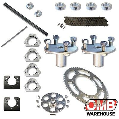 """1"""" Live Real Axle Trailer Mover Kit Azusa Parts Go Kart 18"""" Length"""