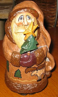 1998 House of Hatten Christmas From Out of the North Santa w/Tree -Leeseberg