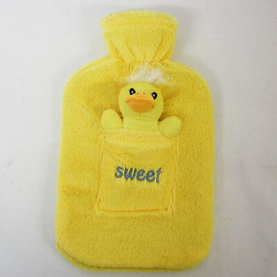 Childs Cosy Hot Water Bottle With Warm Fleece Fur Cover & Soft Toy SWEET  CHICK