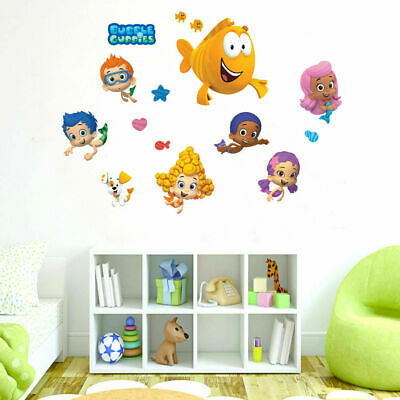 Bubble Guppies Kids Wall Stickers Removable Vinyl Decal Art Decor Cartoon Gift  sc 1 st  PicClick & BUBBLE GUPPIES WALL stickers 44 decal Bubbletucky Deema Gil Oona ...