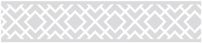 Sweet Jojo Designs Gray White Diamond Baby Kids Wall Paper Border Wallcovering