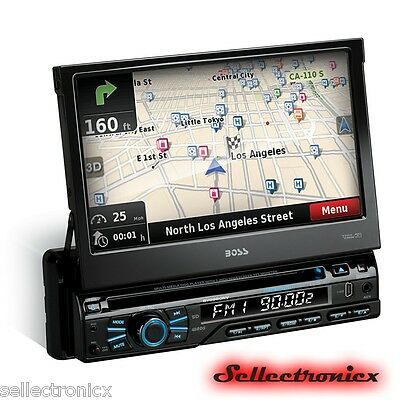 """Boss BV9980NV 1-DIN Bluetooth DVD Receiver w/ Built-In GPS and 7"""" Touchscreen"""