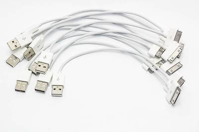 100 Piece Pack White Usb Iphone 4 Charging Cables Usa Seller Wholesale Ipod