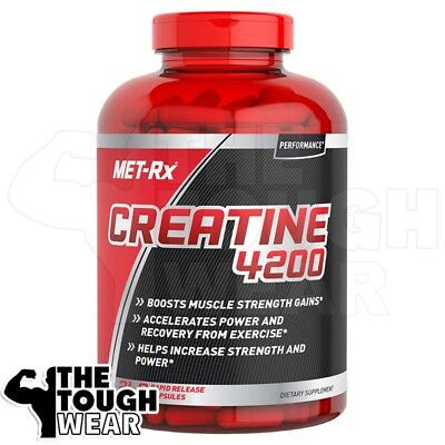 MET-RX USA CREATINE 240 caps 4200 Boosts muscle strength gains PRE&POST WORKOUT
